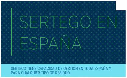 Titular: mapa de ubicación de sedes de Sertego en España.